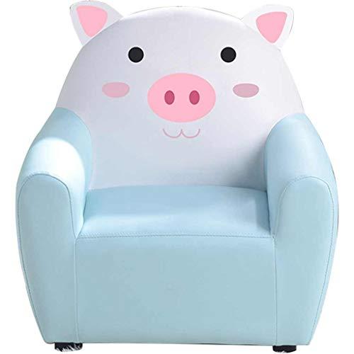 ZYCSKTL Niedliche Cartoon Tierform Mini Sofa Stuhl, Schlafzimmer Leseecke Junge Und Mädchen Prinzessin Rückenlehne Sessel, Geburtstagsgeschenk (Color : Blue B, Size : 52.5 * 42 * 52cm)