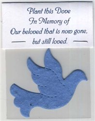 Set of 5 Plantable Dove Memorial Favors