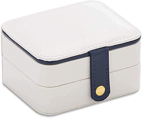 OH Caja de Joyería de Alenamiento Portátil de la Joyería de la Belleza de Los Cosméticos con la Caja de Alenamiento de Joyería de Las Señoras Del Espejo Organizador Portátil/Blanc