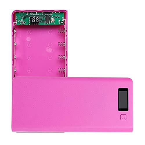 YANHAI Haiyan Store 8X 18650 Baterías Bricolaje Titular de la Caja del Banco de energía Dual USB Cargador DIRIGIÓ Luz 667c (Color : Hot Pink)