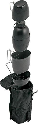 BCB Crusader Système de Cuisson Multi-combustibles et Bouteille d'eau Mixte, Noir