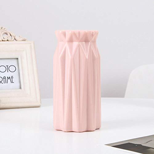 ZXHW JarronesVaso di Fiori moderni Vaso domestico Flower Disposizione Soggiorno Origami Plastica Plastica Stile Nordico Decorazione Domestica Ornamento Home Decor Vendita calda-3501 Rosa.