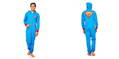 DC Comics Superman Herren Einteiler (Größe L, Blau)