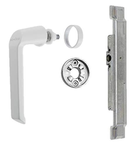 Schüco Reparaturset Getriebe Griff Rosette RAL9016 Aluminiumfenster (DIN Links) 223285