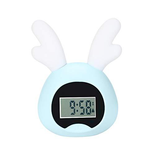 Luminous Wecker Student Mit Stummbett Kreative Persönlichkeit Faule Intelligente Einfache Wecker Kind Elektronische Kleine Uhr (Color : Blue, Größe : B)