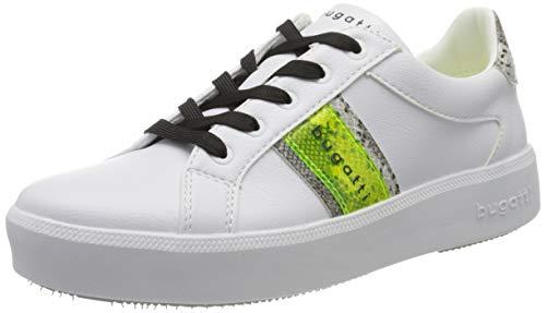 bugatti Damen 4324071B5058 Sneaker, Weiß (White/Animal Print 2082), 39 EU