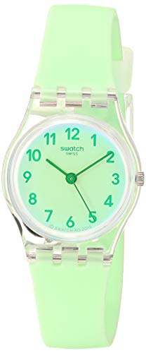 Swatch Essentials Quartz Silicone Strap, Green, 12 Casual Watch (Model: LK397)