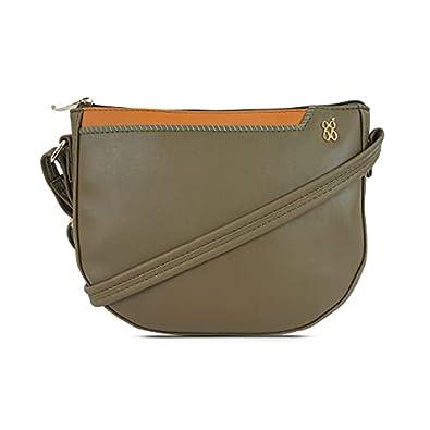 Baggit Women's Saddle Handbag (Green)