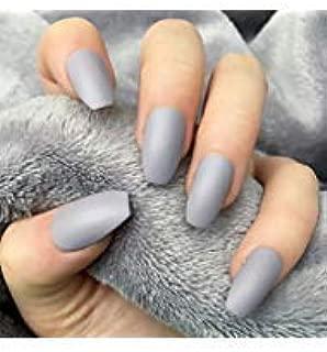 BloomingBoom - Baúl de uñas postizas de 12 tamaños, 24 unidades ...