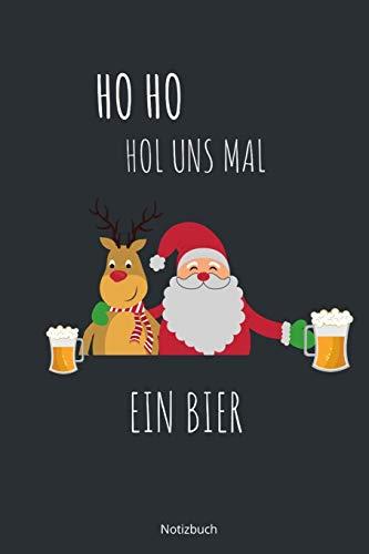 HO HO Hol uns mal ein Bier Notizbuch: karriertes Notizbuch A5 mit Spruch - 110 Seiten | Lustiger Spruch zu Weihnachten oder Nikolaus Bier | Geschenk ... Weihnachtswünsche Adventszeit Geburtstag