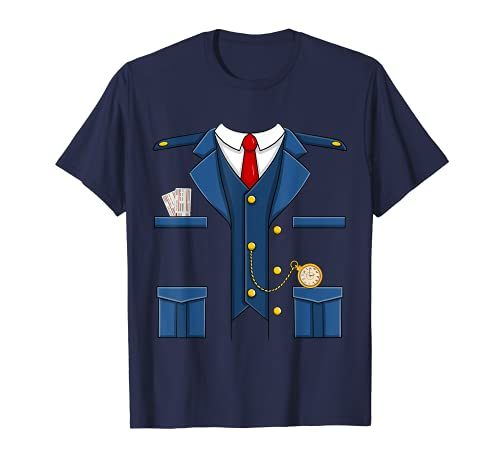 Disfraz de conductor de tren a juego de Halloween Camiseta
