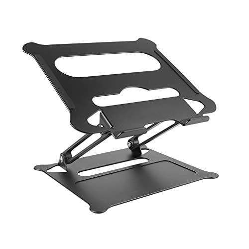 MRYZZ Soporte portátil Ajustable Aluminio para MacBook Computer PC iPad Tablet Tablet Support Notebook Soporte de enfriamiento Cojín de enfriamiento Portátil Base (Color : Black)