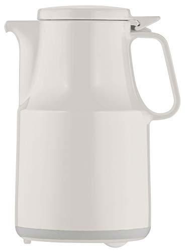 Helios Isolierkanne Thermoboy, Isolierflasche, Hochglanz-Hartplastik, weiß, 0,6 l, ideal für Hotel, Gastro, Krankenhaus