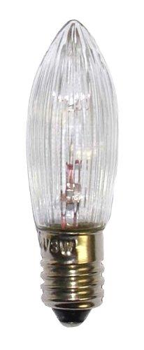 3 Stück EGB Topkerze für Lichterkette 23V, 3W, Fassung E10