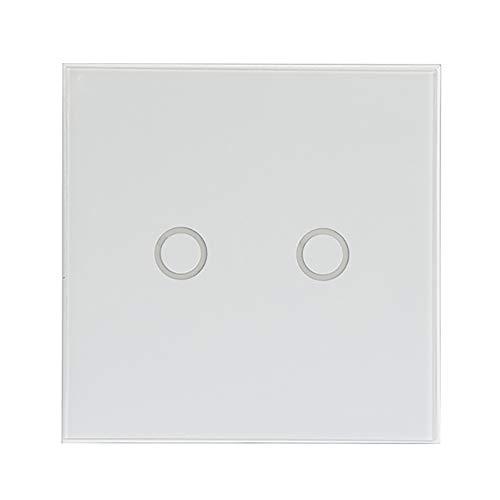 Interruptor de luz táctil, panel táctil con WiFi, interruptor táctil, interruptor de luz de cristal, 2 velocidades, interruptor de luz LED táctil