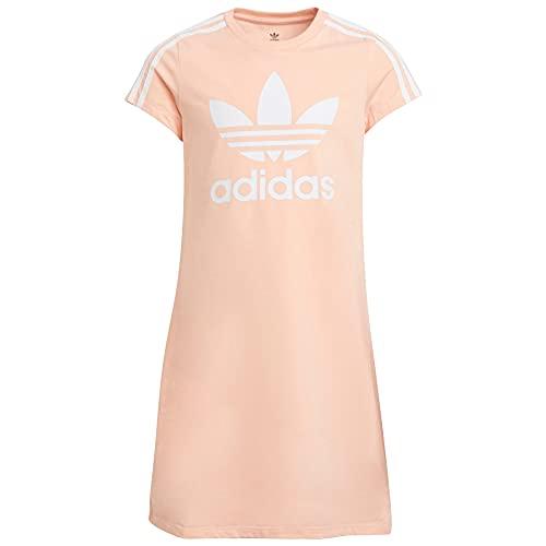 adidas Originals Kids' Adicolor Dress, Haze Coral/White, Medium