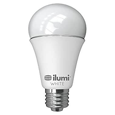 ilumi A19 Adjustable White LED Smart Light Bulb