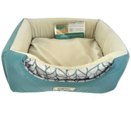 Petlinks Double Dreamer 2-in-1 Convertible Cat Bed, Beige/Surf