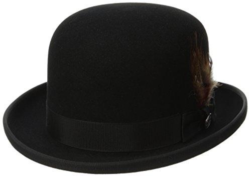 Stetson Men's Derby Royal Deluxe Fur Felt Hat, Black, 7.375