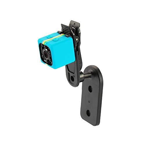Andoer 720P HD Mini-Kamera, versteckte Spionagekamera, Mini-Nachtsicht, multifunktional, kleine Sicherheitskamera, Innen- und Außenbereich, blau mit farbigen Stangen