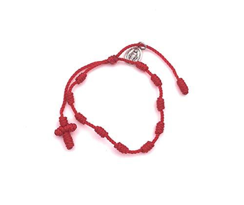 Pray Decade Handmade Mini Rosary Virgin Mary Red...