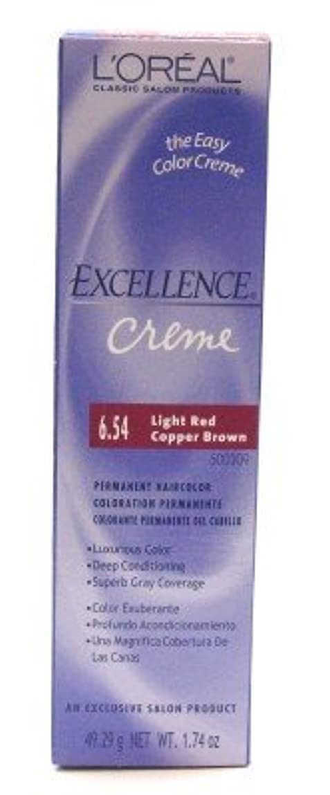 冷蔵庫統合するパンサーL'Oreal Excel Creme Color #6.54 Light Red Copper Brown 51 ml (Case of 6) (並行輸入品)