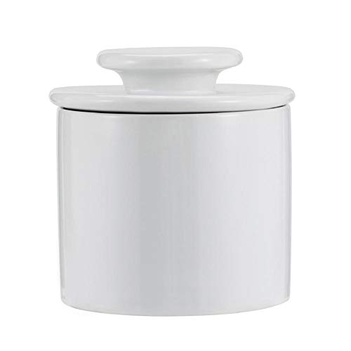 Feunet 2Styles Butterglas Buttertopf Keramik versiegelter Käse Lagerung 13,5 14 13,5 cm / 5,31 5,51 5,31 Zoll