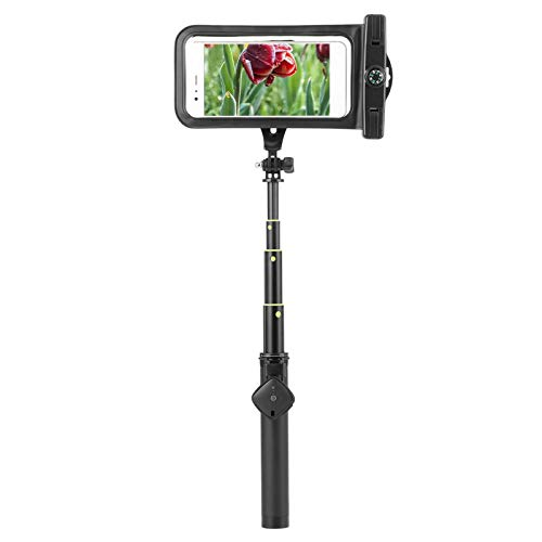 Selfie Stick extensible para teléfono móvil, bolsa impermeable, cuerda para colgar, control remoto inalámbrico por Bluetooth, clip de soporte para teléfono móvil,para IOS, teléfono móvil Huawei