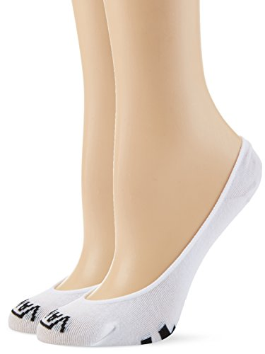 Vans Y No Show 1-6 2pk Calcetines, Blanco (White-black Yb2), Talla única (Talla del fabricante: OS) para Mujer