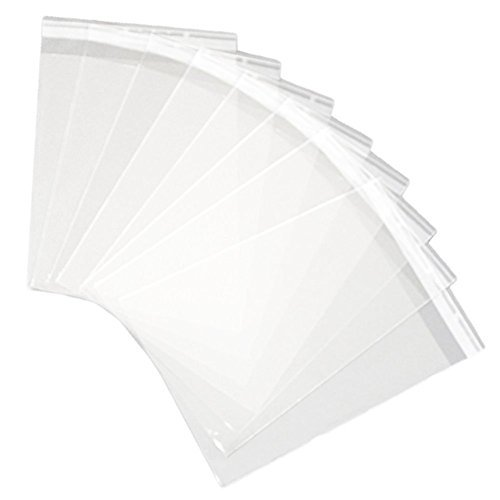 Hustar 100 Pcs Clear Self Sealing Cello Cellophane Bags Bakery Candle Soap Cookies Poly Bags 5x7 inch