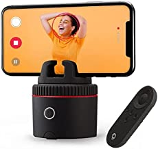 Pivo Pod Red with Remote Control - Auto Tracking Smartphone Pod - Handsfree Face Body Motion Tracking Camera Phone Mount - Content Creation Kit for Videos and Photos