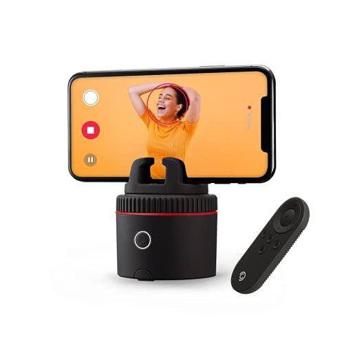 Pivo Pod Red con Control Remoto – Auto Tracking Smartphone Pod – Manos libres Cara Cuerpo Seguimiento Movimiento Cámara Teléfono Soporte - Kit de Creación de Contenido para Videos y Fotos