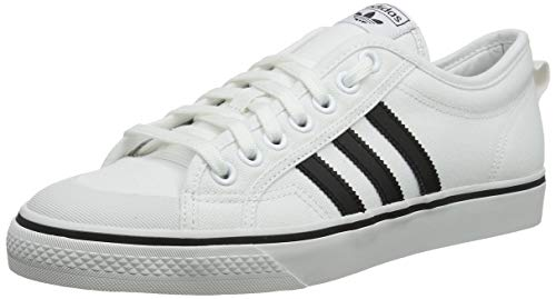 adidas Herren Nizza Gymnastikschuhe, Weiß (FTWR White/Core Black/Crystal White FTWR White/Core Black/Crystal White), 45 1/3 EU