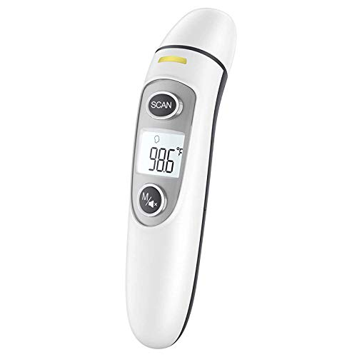 Touchless Forehead Thermometer for Adults, Infrared and Ear Thermometer for Fever, Babies, Children, Adults, Indoor and Outdoor Use