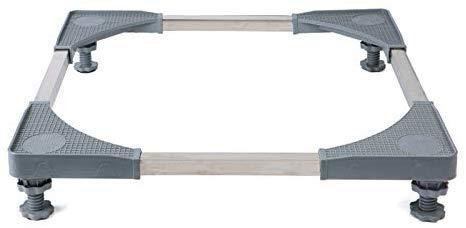 CCLLA Gerätebasis Multifunktionale, verstellbare, verstellbare Basis mit 4 einstellbaren, starken Fußgrößen Universal-Rollwagen für Trockner, Waschmaschine und Kühlschrank, graue Universalmaschine