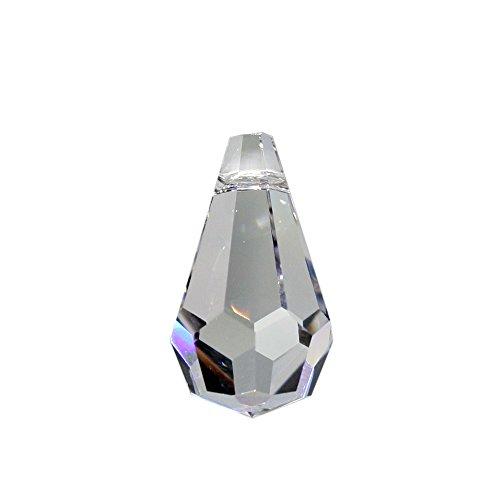 Christoph Palme Leuchten Kristall Tropfen 20 Stück L. 20mm Hoch Brillant 30% Bleikristall Regenbogenkristall zum aufhängen für Feng Shui, Weihnachten und zum basteln