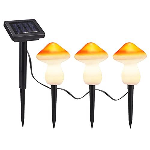 YLR Outdoor Solar Lights,Solar Garden Decoration Outdoor Lights, Outdoor Waterproof Solar Garden Lights, Decorative Garden Landscape Lights, Luminous Mushrooms, One for Three Lawn Lights