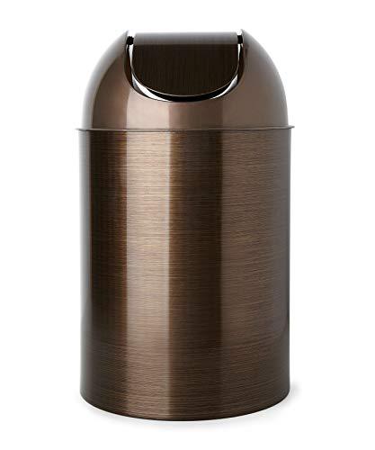 Umbra, Bronze Mezzo Swing-Top Waste Can, 2.5-Gallon (10 L)