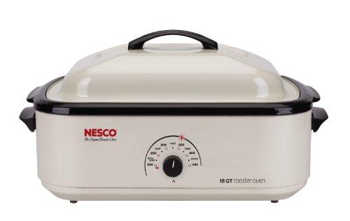 Nesco 4808-14-30 Classic Roaster Oven, 18-Quart, Non-stick Cookwell, Ivory