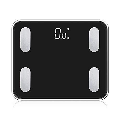 Bluetooth weegschaal, digitale Personenweegschaal Built-in 3.7V oplaadbare batterij, High Precision meten van BMI, vetpercentage, Spier, etc, Smart APP voor Fitness Tracking, 28st / 180kg / 400lb