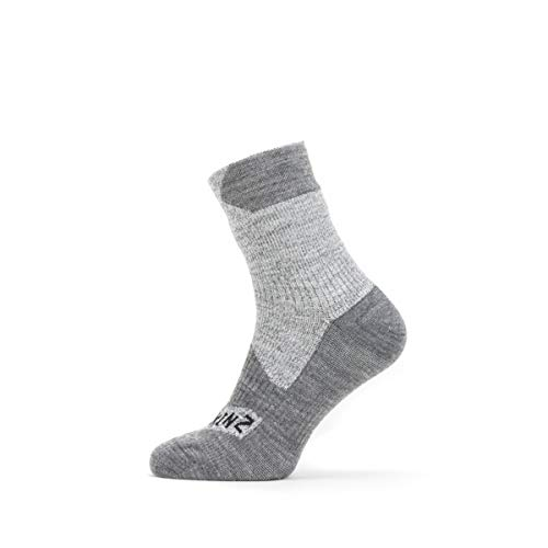 SealSkinz Waterproof All Weather Ankle Length Sock, Grey/Grey Marl, L