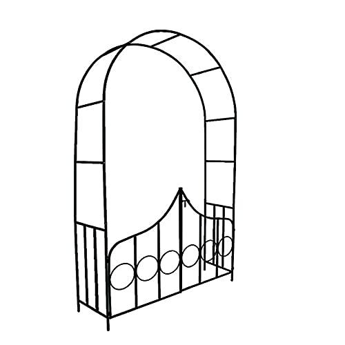 Arches à Rosiers, DéCoration Arche Jardin, Plantes Grimpantes d'arc de Rose de Fer Noir avec La DéCoration d'arc de Jardin de Porte pour des Plantes d'arc De Jardin pour Le Mariage