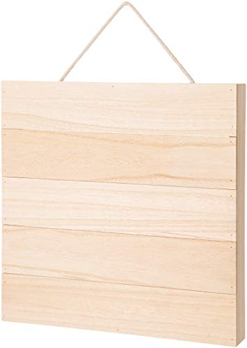 Darice 30052997 Unfinished Wood Square