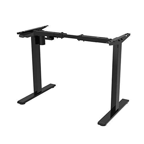 FlexiSpot 電動式スタンディングデスク脚 高さ調節 学習机勉強机 ブラック(天板別売り)