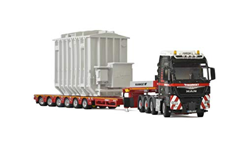 Man TGX XXL 8x4 Mammoet Truck with 6 Axle Low Loader Trailer and Transformer 1/50 Diecast Model by WSI Models 41-0221