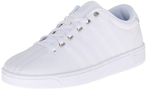 K-Swiss Women's Court Pro II CMF Athletic Shoe, White/Silver, 8 M US