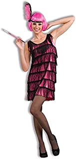 Jazzy Hot Pink Flapper Adult Costume