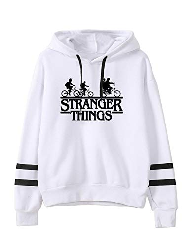 Sudadera Stranger Things Mujer, Sudadera Stranger Things 3 Unisex Hombres Adolescente Sudadera con Capucha Stranger Things Deporte Casual Impresión Suéter Jersey Series de Television Regalos (1,S)