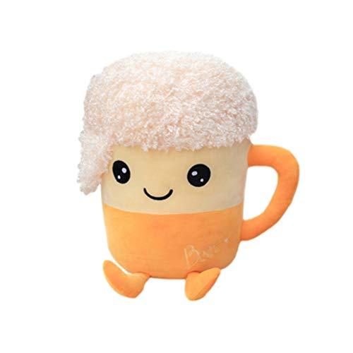 Almohada de Juguete de Felpa con Forma de Taza de Té de Burbujas para Niños, Muñeco Suave de Té de la Leche con Comida de Peluche, Cojín para Taza de Té de la Leche