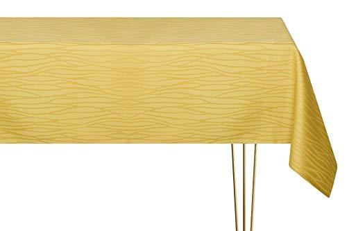 Mantel antimanchas de varios tamaños, formas y colores. Mantel rectangular de color dorado a rayas hecho a mano 100% poliéster. Mantel de jardín 140 x 180 cm